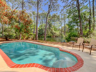 Updated Luxury Vacation Home w Private Pool Lagoon Views Living Room and Family
