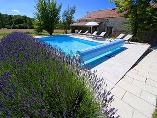Beautiful converted barn and gite with private pool short stroll from village