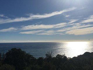 La villa Santa Lucia sa vue exceptionnelle sur mer et montagne