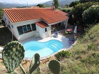 Maison de campagne avec piscine, 3 chambres (6 couchages)
