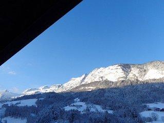 Skier a La Clusaz confort  bien etre jacuzzi wifi parking terrasse vue