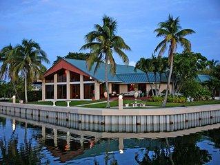Magnificent Open Water Estate near Sombrero Beach ---- over 450' ot waterfront !