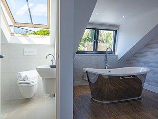 NEW!!! Newly refurbished property by Porthmeor beach, sleeps 8 with sea view.