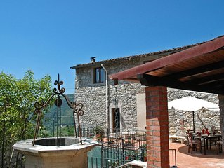 Casa Afra on quiet hills near Lucca and with an amazing view