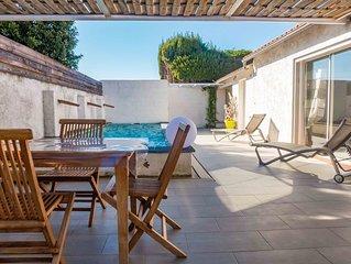 Maison confortable classée 4* avec piscine balnéo proche Narbonne