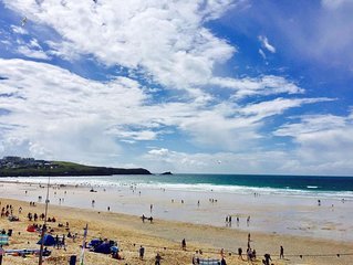8 The Point is a stunning apartment overlooking the ocean and Fistral Beach