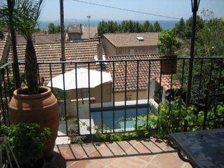 Maison de charme entièrement rénovée, vue mer, bassin et jardin