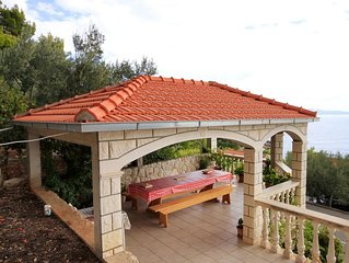 Four bedroom apartment with terrace and sea view Prizba (Korcula) (A-9227-d)