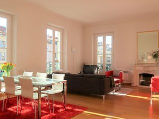 Elegance, space and light in heart of Nice (3 bedr. apt, 127 sqm)