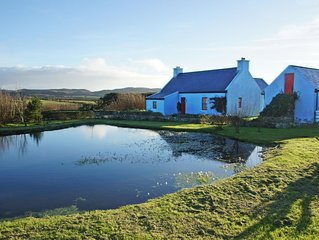 Detached farmhouse in quiet secluded setting on the slopes of Knocknamaddree and