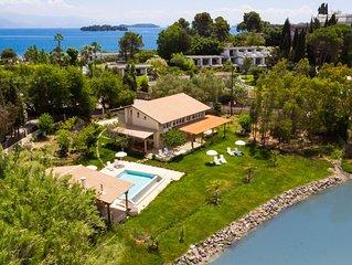 Prestige Villas | KONTOKALI BAY | Waterfront Villa 2 mins Walk to Sandy Beach