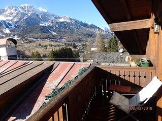 Mansarda con vista a Cortina