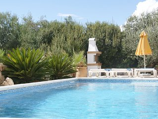 Idyllic location - detached villa with private pool and stunning views.