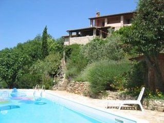 Villa with Pool and Territorial Views; Small Village