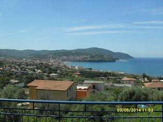 Vista mozzafiato sul Golfo di Agropoli  con veduta sull'isola di Capri