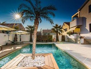 Villa Ida 4* for 12 guests with heated pool, Zadar