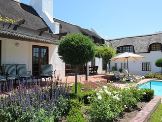 Stunning 4 bedroom thatched house with private pool and secluded garden