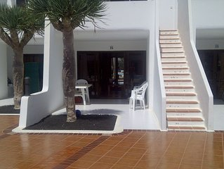 South facing Villa overlooking pool in Costa Teguise. Great location.