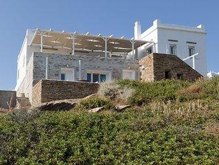 Athina Villa Ios, Luxury Villa with Superb Seaview, 4BDR, Two-floor