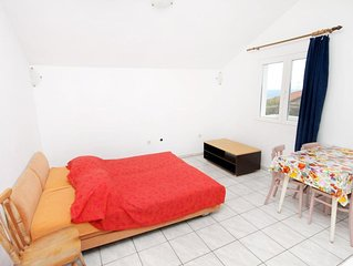 One bedroom apartment with terrace and sea view Zavala (Hvar) (A-128-c)