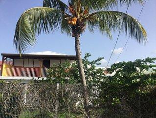 Haut de villa 2 chambres à 2 km de la plage