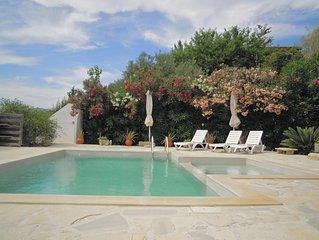 Appartement 80 m2 voor 4 personen met zeezicht, zwembad, parking, wasmachine