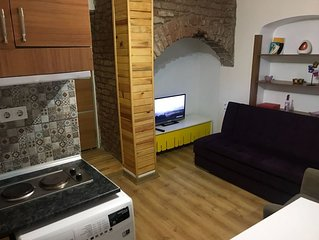 Large, Lovely and Silent 1+1 Studio with a Terrace in Beyoglu