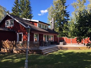Archipelago villa with swimming pool, 45 minutes from Stockholm city