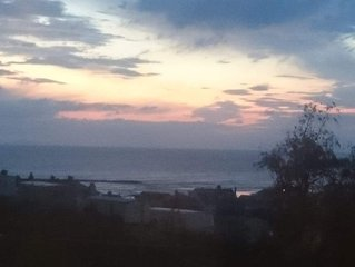 Cosy static caravan with stunning sea and mountain views at Borth, Ceredigion.