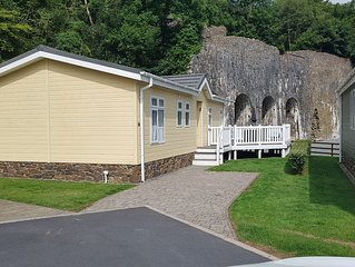 'Seacroft' lodge in Heritage Park on the Pembrokeshire coast (dog friendly too!)