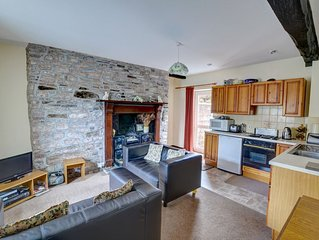 A ground floor apartment in a large farmhouse about 2.5 miles from Brecon, close