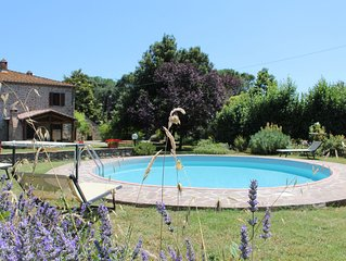 Charming Restored Tuscan Farmhouse Near Cortona, Italy With Private Pool & Wifi
