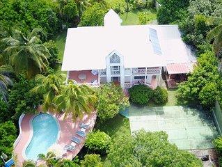 villa caribe frente al mar de san Andrés isla ideal para buceo, snorkling, dive