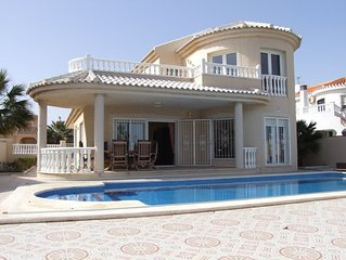 Beautiful Front-Line Villa with Stunning sea views & very large Private Pool