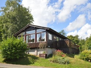 Renovated open plan lodge with stunning views, near Dunoon, sleeps 4, pet friend