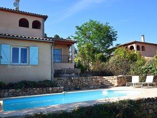 Spacious Villa in Joyeuse with Swimming Pool