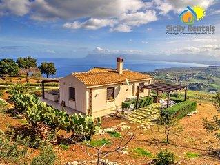 Splendida villa con vista mozzafiato a Scopello