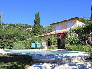 Charming Villa In Grimaud Village with Private Pool, Near St Tropez,