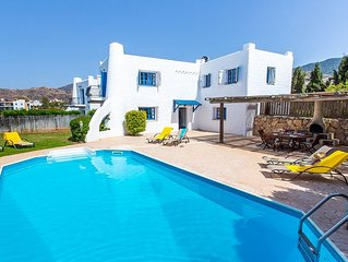 Beautifully Styled Villa, Private Pool, Hot Tub, Spectacular Sea Views, In Pomos