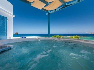 Luxuriose Villa direkt am Meer mit einzigartigem Sonnenuntergang & Whirlpool