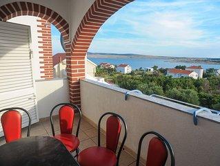 Ferienwohnung RB  A10(4+2)  - Novalja, Insel Pag, Kroatien