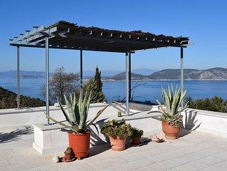 Landhaus mit Garten, 120m2, 1km vom Meer, grandioser Blick,
