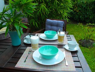 Gemutliche Ferienwohnung mit Garten in der Landeshauptstadt
