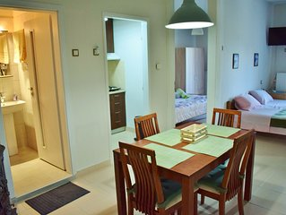 The apartment is exactly in the center of Stavros, on the pedestrian street....