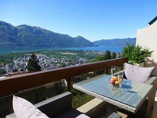 Appartement in Ferienresidenz, mit Panoramablick, Indoorpool und Sonnenterrasse