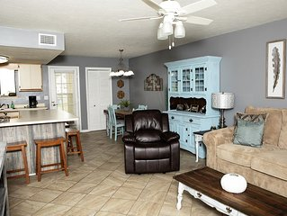 NEW!!  Renovated townhouse, walk to beach, 11 pools, gated community