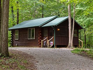 The Woods Cabin is an ideal location for peaceful and romantic getaways.