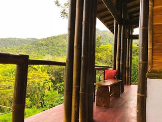 Cabaña Bambura 1: Amazing view, nature sourranded!