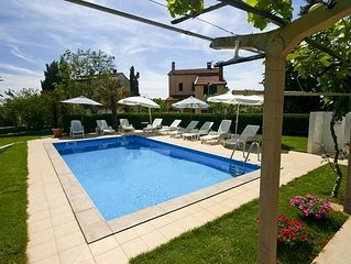 Appartement mit Pool, Klima, WLAN, Terrasse mit Grillplatz