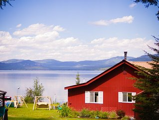 Vintage Montana Lakefront Cabin Retreat - Enjoy Big Sky Country on the Water!